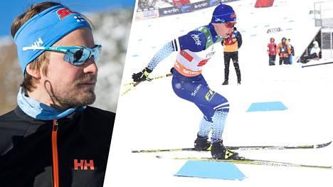Koronatartunnan saanut Ville Oksanen (vas.) ja Lauri Hyvärinen olivat hiihtomaajoukkueen matkassa Kanadassa viime viikolla. Arkistokuva.