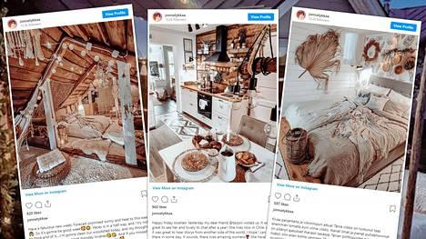 Jonna pitää kodistaan myös suosittua sisustusaiheista Instagram-tiliä, jolla on yli 12 000 seuraajaa.