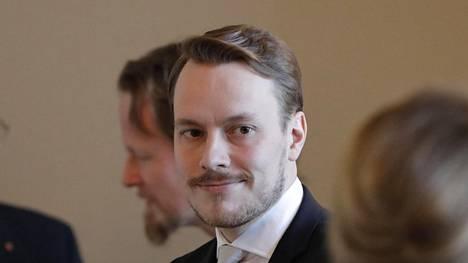 Markus Räikkönen valtiopäivien avajaisissa.