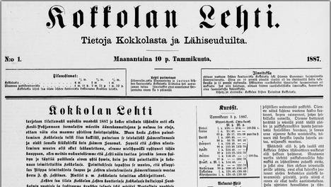 Insinöörin konttoorissa -näytelmän ensimmäinen osa julkaistiin 10. tammikuuta tässä Kokkolan Lehden numerossa.