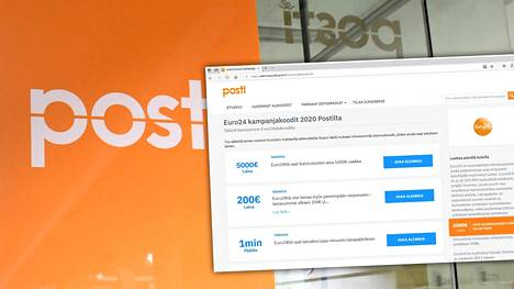 Postin virallisten verkkosivujen alla mainostetaan kulutusluottoja.