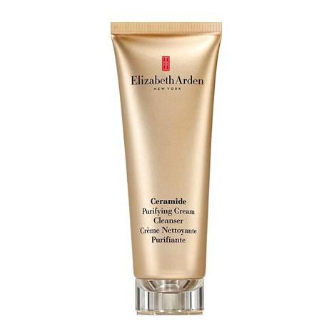 Elizabeth Arden Ceramide Purifying Cream Cleanser -putsari lupaa kosteuttaa ja poistaa meikin ja epäpuhtaudet hellävaraisesti, 43,90 € / 125 ml, mm. Stockmann.