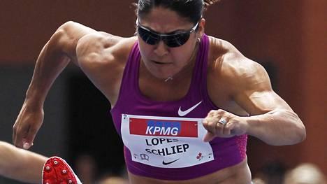 Priscilla Lopes-Schliep voitti uransa aikana olympiapronssia aitajuoksussa.