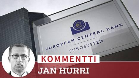 Euroalueen keskuspankin EKP:n pääkonttori sijaitsee Frankfurtissa.