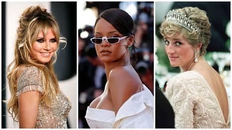 Listalta löydät muun muassa Heidi Klumin, Rihannan ja Prinsessa Dianan suosikkituoksut.