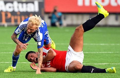 Stadin derbyssä kaikkensa antanut Toni Kolehmainen lienee HJK:n avauksessa KuPSia vastaan.