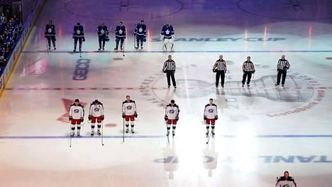 NHL:n pudotuspeliturnaus on käynnissä Edmontonissa ja Torontossa.