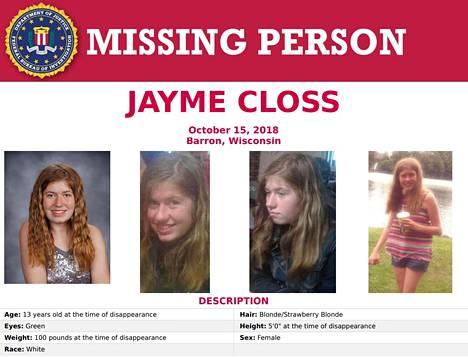 FBI etsii Jaymea tällä ilmoituksella.
