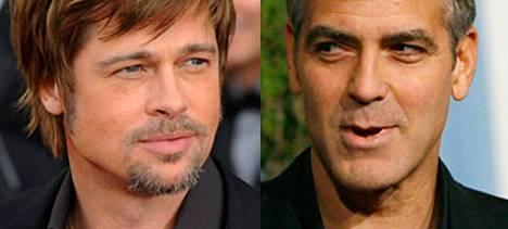 Uransa alkuaikoina Brad Pitt ja George Clooney joutuivat kamppailemaan kynsin hampain samoista rooleista.
