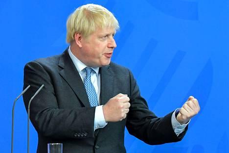Pääministeri Boris Johnsonin mukaan brexit tapahtuu 31. lokakuuta, oli sopimusta tai ei.