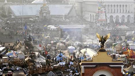 Yhteenottojen näyttämönä Kiovassa on ollut Itsenäisyysaukio.