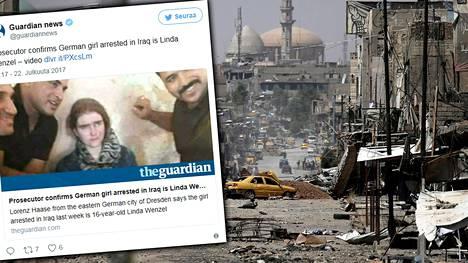 Linda Wezel pidätettiin Mosulissa sen jälkeen kun Isis oli lyöty kaupungissa.