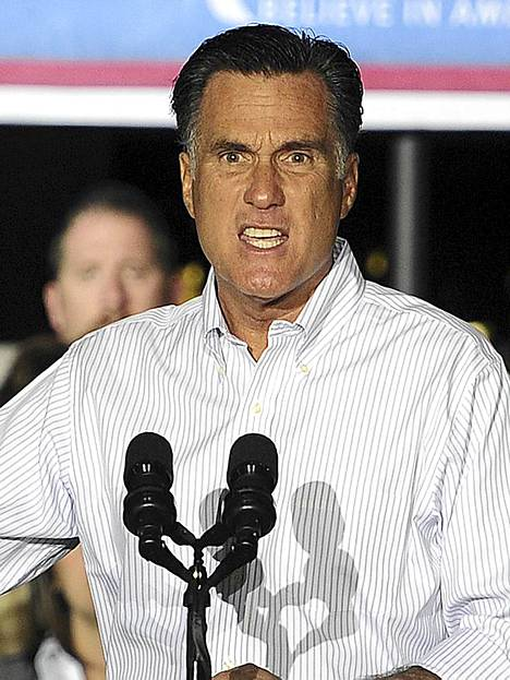 Ilmeikäs ehdokas. Yhdysvaltain republikaanien presidenttiehdokas Mitt Romney puhui kampanjatilaisuudessaan Weatherlyssa, Pennsylvaniassa. Yhdysvaltain 57. presidentinvaalit järjestetään 6. marraskuuta. Romney käy vaalitaistoa istuvaa presidenttiä demokraattien Barack Obamaa vastaan.