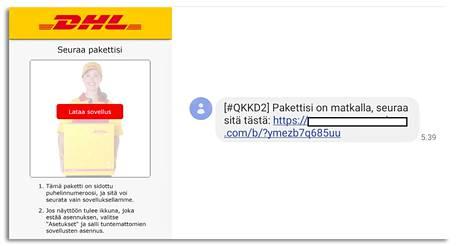 Nyt käynnissä olevan haittaohjelmakampanjan käyttämät verkkosivut on puettu DHL:n ulkoasuun. Tilanne voi muuttua.
