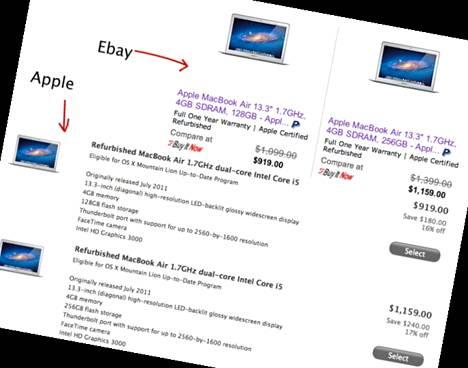 Refurbished Outletin ja Applen myymät laitteet ovat identtisiä.