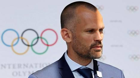 Korkeushypyn olympiavoittaja Stefan Holm, 43, on nykyisin Kansainvälisen olympiakomitean KOK:n jäsen.