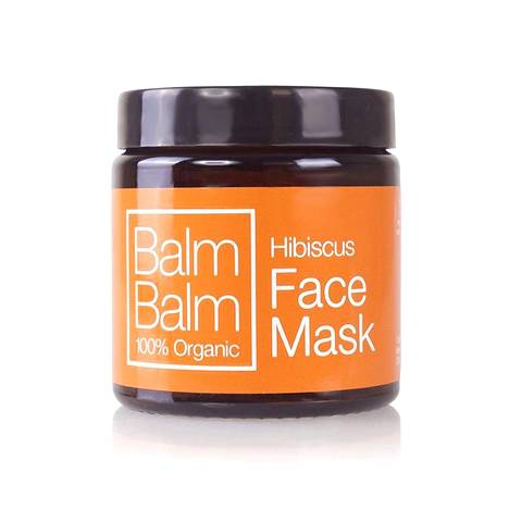 Balm Balm Hibiscus-kasvonaamio lupaa kirkastaa, kosteuttaa ja puhdistaa ihoa. 19,90 €, Twistbe.fi.