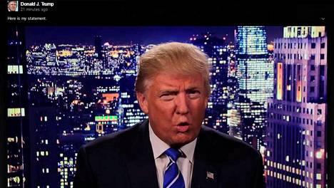 Donald Trump vastasi kohuun julkaisemallaan videolla.