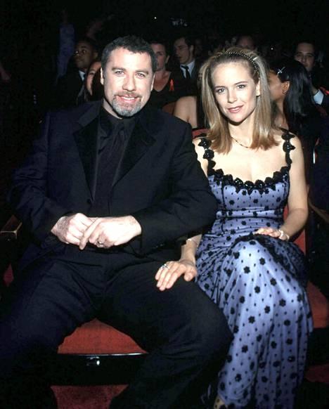 John Travolta ja Kelly Preston kuvattuna vuonna 1999.