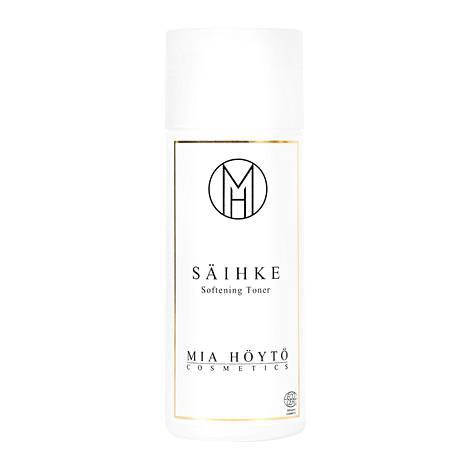 Myös toner voi tarkoittaa hoitovettä. Suomalaisen luonnonkosmetiikkamerkki Mia Höytö Cosmeticsin Säihke Softening Toner -hoitovesi sisältää koivunmahlaa, kasviuutteita ja hyaluronihappoa. 23,80 € / 150 ml.