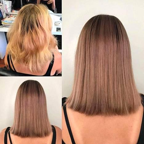 Kuin eri hiukset!