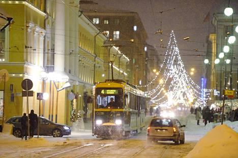 Tältä näytti Helsingissä joulun alla vuonna 2013.