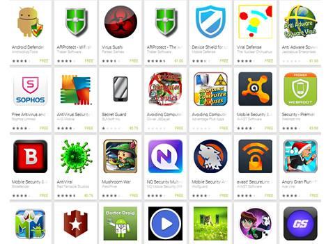 Virus shield -haku tuottaa runsaasti tuloksia Google Playssä, mutta suosittua valesovellusta sieltä ei enää löydy.