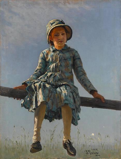 Pyryharakka (1884) on taiteilijan tyttären Vera Repinan värikylläinen muotokuva.
