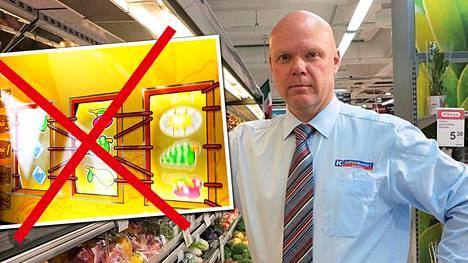Pertti Miettinen ei aio kauppaansa Veikkauksen automaatteja hankkia.