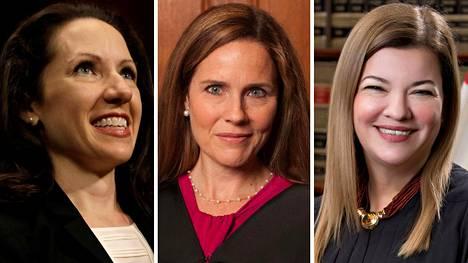 Allison Jones Rushing, Amy Coney Barrett ja Barbara Lagoa.