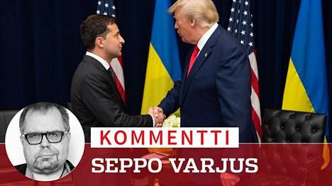 Ukrainan presidentti Volodymyr Zelenskyi tapasi keskiviikkona Donald Trumpin New Yorkissa.