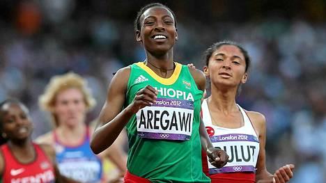 Abeba Aregawi sijoittui Lontoon olympialaisissa 1500 metrillä viidenneksi.