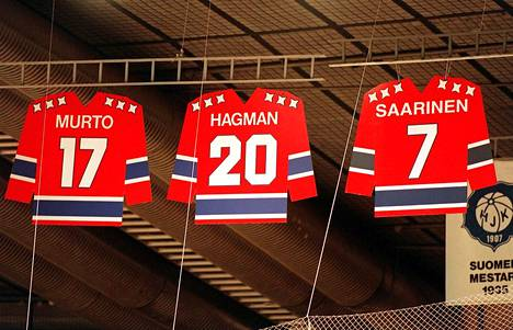 HIFK on jäädyttänyt Matti Hagmanin pelinumeron 20.