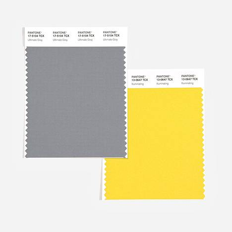 Pantone valitsi vuoden väreiksi äärimmäisen harmaan Ultimate Greyn ja kirkkaan keltaisen Illuminatingin.