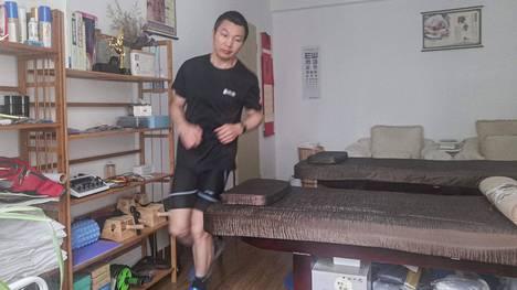 Tältä näytti Pan Shancun juoksu kotonaan.