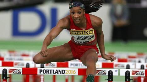 Kendra Harrison teki kaikkien aikojen toiseksi nopeimman aitajuoksutuloksen. Kuva maaliskuulta.