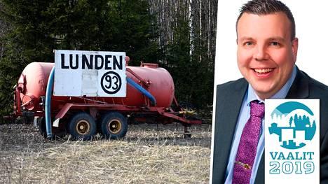 Mikko Lunden mainosti Salon ja Someron alueilla.