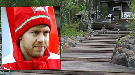 Vettelin ostama huvila sijaitsee Päijänteen rannalla Joutsan Rutalahdessa. Päärakennuksen lisäksi tontilta löytyvät sauna ja aittarakennus.