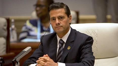 Presidentti Enrique Pena Nieto vieraili Kiinassa 5. syyskuuta 2017.