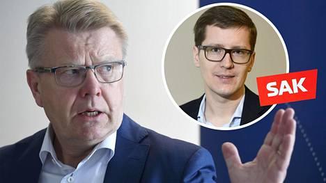 EK:n Jyri Häkämiehen mukaan SAK:n ehdotuksissa on lukuisia yrittämiseen ja omistamiseen liittyviä kiristyksiä, vaikka yritysten pitäisi työllistää.