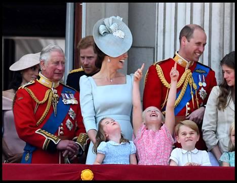 Pikkukuninkaalliset osoittelivat innokkaasti taivaalle, kun hävittäjät lensivät palatsin yli.