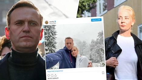 Aleksei Navalnyi ja Julia Navalnaja ovat joutuneet Kremlin-mielisen internettelevision kiristyksen kohteeksi.