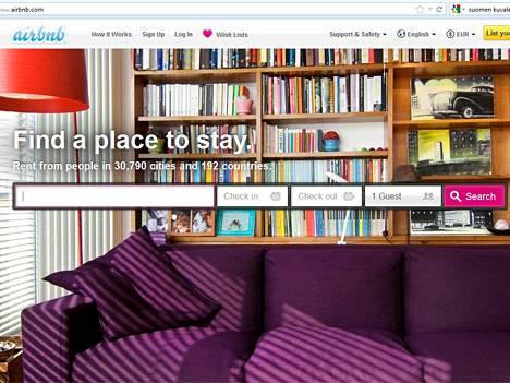 Airbnb toimii myös Suomessa.