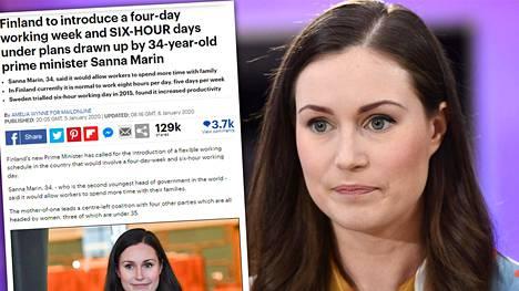 Daily Mail uutisoi Sanna Marinin ehdotuksesta.