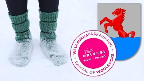 Orivesi tarvitsee villasukkakoordinaattorin, koska se on julistautunut Suomen villasukkapääkaupungiksi.
