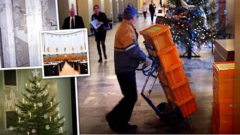"""Eduskunnasta lähtee 101 000 joulukorttia – kuvavalinta on ihmetyttänyt monia: """"Tämä talo ei ole kuvastoltaan erityisen jouluinen"""""""