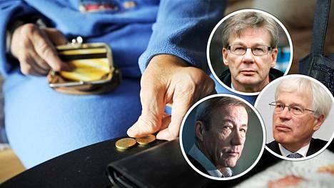 Mistä rahat tulevien eläkkeiden maksuun? Talousasiantuntijat ovat asiasta erimielisiä.