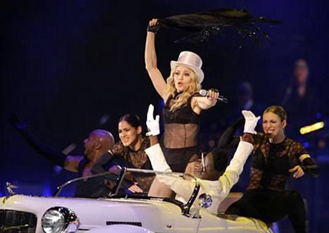 Madonnan tyylinäytettä.