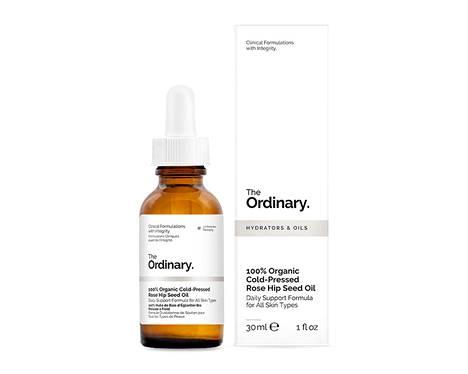 The Ordinary 100% Organic Cold-Pressed Rose Hip Seed Oil -öljy, 12,70 € / 30 ml.
