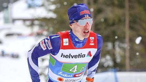 Iivo Niskanen joutui pettymään Holmenkollenilla. Kuva Seefeldin MM-kisoista.